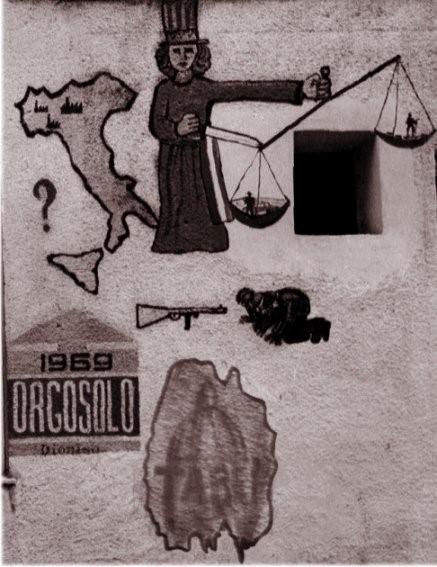 Orgosolo'nun ilk duvar resmi